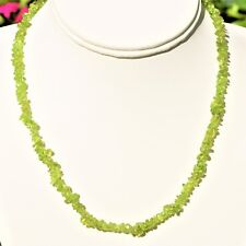 """CHARGED Peridot Crystal Chip 18"""" Necklace Polished ENERGY REIKI"""