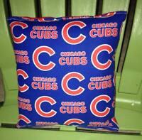 Cubs Pillow Chicago Cubs MLB Pillow Baseball Pillow HANDMADE in USA