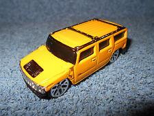 """Maisto H2 Hummer 1:64 Yellow Diecast Vehicle Truck 2 3/4"""" Long - Nice"""