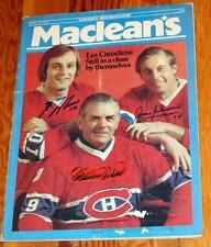 1976 Montreal Canadiens Maurice Richard Beliveau Lafleur Signed Magazine!