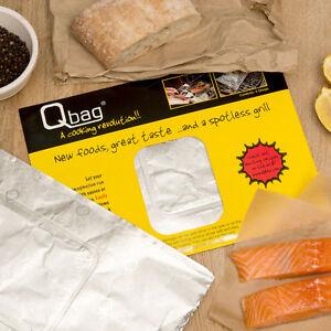 Aluminium Foil Cooking Bags /  QBag / Size 210 x 300 mm Oven & BBQ. Great value!