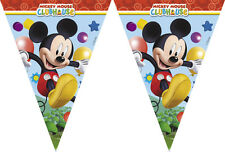 Disney Mickey Mouse Clubhouse Fête Triangle Flag Banner - 2.3m