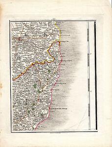 RARE JOHN CARY COPPERPLATE MAP - ALDBURGH, SOUTHWOLD, LOWESTOFT, YARMOUTH (1794)