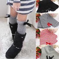 Princess Baby Girls Kids Leg Warmers Bow Cotton Leggings Toddler Stockings Socks