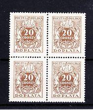 POLAND  1924  DOPLATA  Fi D71II ; ZL. 600,-  BLOCK OF 4  MNH **