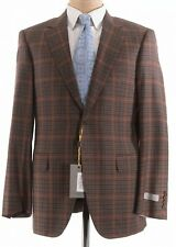 Canali NWT Sport Coat 40R In Brown With Multicolor Plaid Wool $1,495