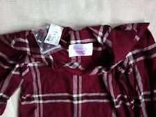 Justice Multi-Colored Girls Size 12 Button-up Long Sleeves Shirt NWT!