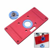 Aluminum Router Table Insert Plate Ring For Woodworking Bench Trimmer Router