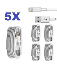 5X USB Charging Wire Lead Cable for iPhone X10 /8/7/5S/ iPod  Wholesale Job Lot