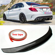 Carbon Fiber Highkick Trunk Spoiler Wing For 2015-19 Mercedes Benz W205 C63 AMG