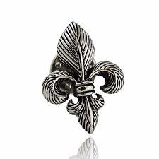 Fleur-de-lis Pin - 925 Sterling Silver - 3D Fleur de Lis Lapel Gift Brooch NEW