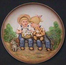 Homco Denim Days Boy and Girl Decorator Plate
