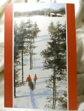 Holiday Seasonal Card Christmas Spirit Travel Home Greetings Gift Post Vintage