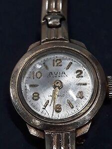 Ladies Vintage 9ct Gold Avia Watch