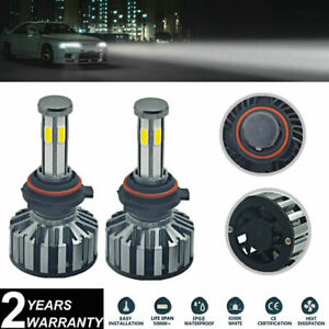 2x 9006 HB4 White LED Headlight Bulbs 72W 6-Sides COB For Nissan Armada 2005-15