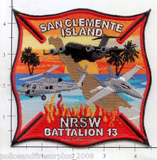 California - San Clemente Island CA Fire Dept Patch v1 Federal Fire - San Diego