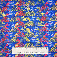 Riverwoods Fabric - Folkloric Fun Turtle Patch Blue - Cotton YARD