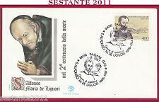 ITALIA FDC FILAGRANO S. ALFONSO MARIA DE LIGUORI 1987 ANNULLO PAGANI SA Y178