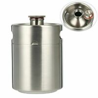 2L 64oz Stainless Steel Mini Keg Growler For Beer Home Brew Making Portable