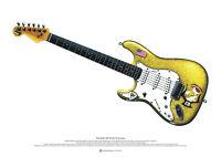 Paul Kossoff/'s 1959 Sunburst Gibson Les Paul ART POSTER A2 size