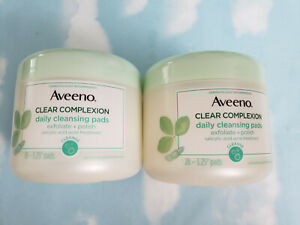 LOT(2) AVEENO CLEAR COMPLEXION DAILY CLEANSING PADS   28 PADS EACH