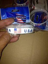 USA Silicone Wristband Bracelet USA Flag Background