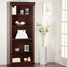 5 Shelf Cherry Tall Vertical Bookcase Home Living Room Furniture Office Storage