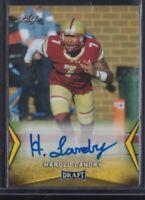 🔥💎 HAROLD LANDRY 2018 Leaf Draft AUTO ROOKIE CARD Tennessee Titans