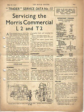Morris Commercial L2 & T2 Motor Trader Service Data No. 15 1937