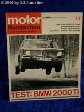 Motor Rundschau 13/67 Glas 3000 V8 Coupe BMW 2000 ti