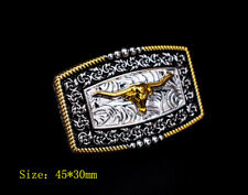5PCS Western Cowgirl Gold Silver Flower Rope Texas Longhorn Leathercraft CONCHOS