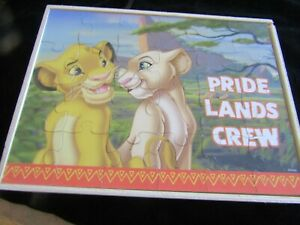 Lion King x 4 Puzzles In Original Wooden Box
