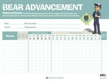 """Boy Scout Cub Bear Advancement Chart 23"""" x 17"""" Made in USA Official Licensed BSA"""