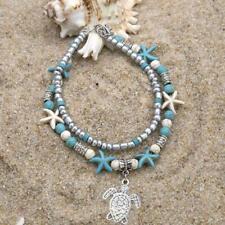 Yoga Nautical Gift Body R1O1 Turtle Starfish Beach Anklet Bracelet Beaded
