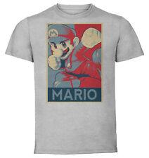 T-Shirt  - Gray - Propaganda - Smash Bros Mario