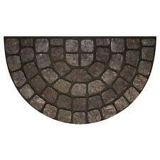 Achim Raised Rubber Mat Grey Stone Slice - 18x30- RRM1830GS6 Door Mat NEW