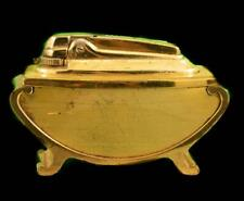 RONSON GOLD TONE VAARAFLAME TABLE LIGHTER -ENGLAND-  GORGEOUS PIECE - 2929T