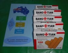 "5 Boxes of 100  First Aid Band Aids Assorted Sizes 3"", 2/14"", 11/2""&7/8""Bandages"