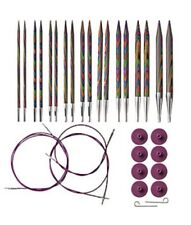 Options Interchangeable Rainbow Wood Circular Knitting Needles Set Knit Picks