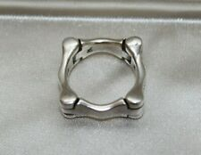 Unusual Vintage Articulated modernist sterling silver ring size 7 1/4