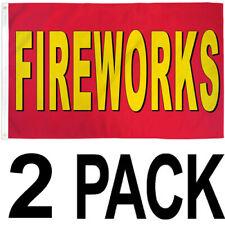 New listing 3x5 ft Fireworks Flag Sign Banner rf - 2 Pack