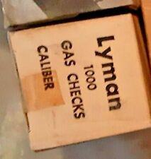 lyman 45 caliber Copper Gas Checks for Reloading one box price 1000 gas vintage