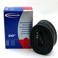 "Schwalbe SV7 Presta (40mm) Tube - 20"" Bike Inner Tube (40-406 to 62-406)"