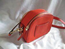 Monsoon burnt Orange Shoulder Bag 2 Zip up Compartments Adjustable Strap