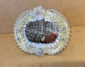 NICE VINTAGE ORNATE MURANO FRATELLI TOSO TABLE MIRROR FREE STANDING / WALL HUNG