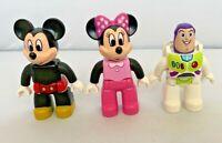 Lego Duplo Mickey Minnie Mouse Buzz Lightyear Disney Lot of 3