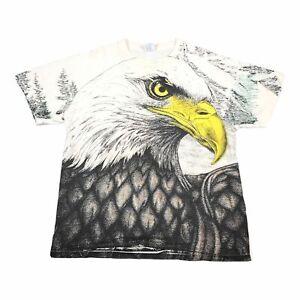 90s Vintage EAGLE ALL OVER PRINT Mens T Shirt XL | Single Stitch Delta