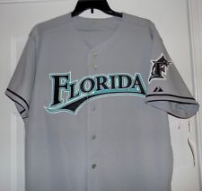 FLORIDA MARLINS MLB Baseball League JERSEY Men's Size 48 Road Gray NEW WITH TAGS
