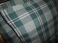 MARTHA STEWART GREEN & RED PLAID (PAIR) FLANNEL STANDARD PILLOWCASES 21 X 30