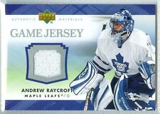 Andrew Raycroft 2007-08 UD '07 Upper Deck NM+ Game Jersey Authentic #J-AR Wht
